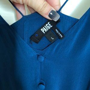Paige Brand Dress: Full-Length teal dress